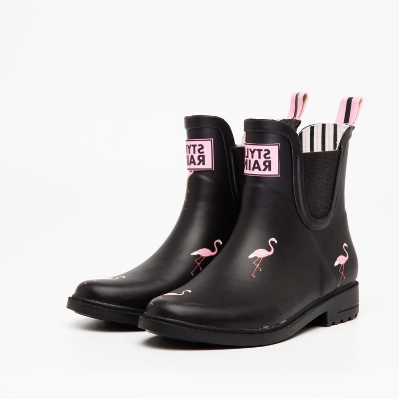 """Резиновые сапоги DripDrop """"Фламинго"""" style rain"""