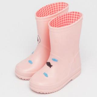 """Резиновые сапоги детские """"Рыбки"""" розовые"""