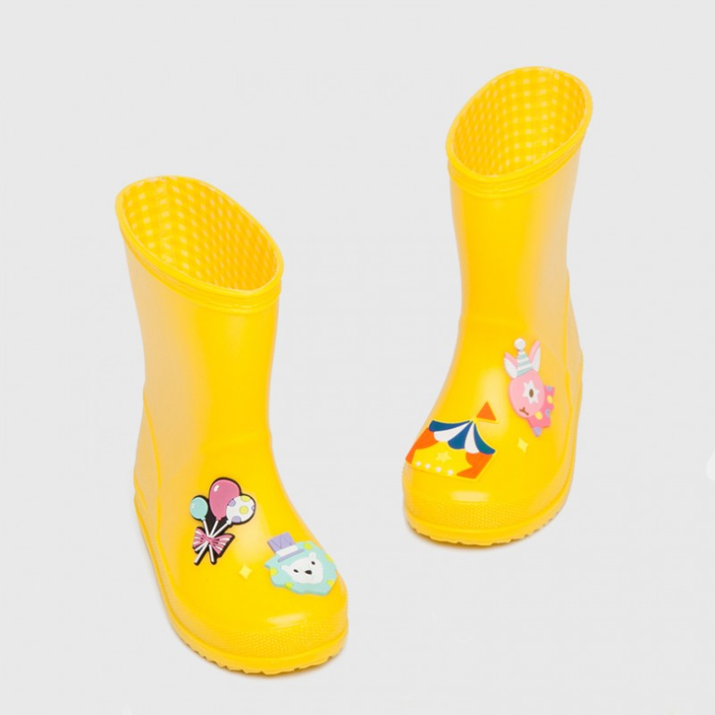 """Резиновые сапоги детские """"Цирк"""" желтые"""